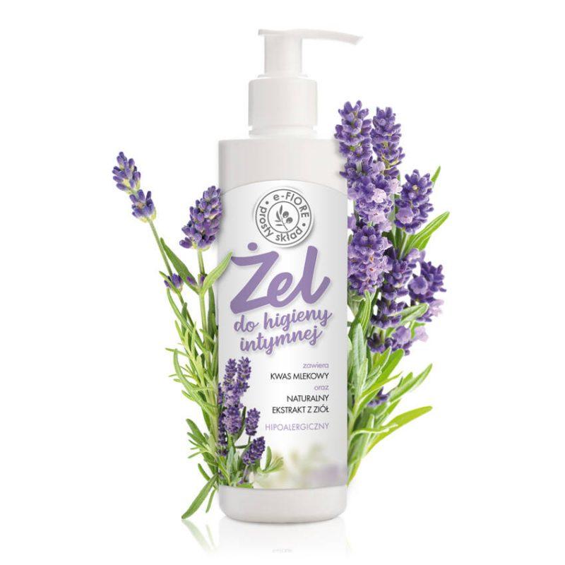 E-FIORE – Naturalny żel do higieny intymnej z olejkiem z lawendy, kwasem mlekowym, 250ml