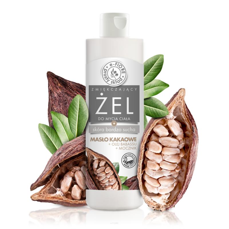 E-Fiore – Naturalny żel do mycia ciała z masłem kakaowym, mocznikiem i keratyną,250ml