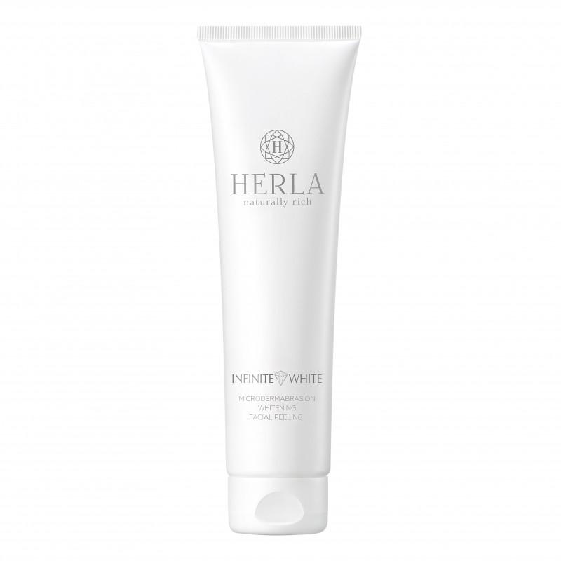 Herla – INFINITE WHITE – Wybielający Peeling do Twarzy Efekt Mikrodermabrazji, 150ml